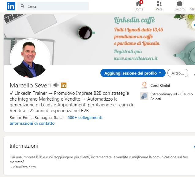Marcello Severi docente corso Linkedin